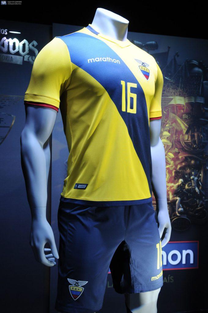 Guayaquil 19 de Mayo del 2016. Presentación de la Indumentaria que vestirá la Selección Ecuatoriana de Fútbol en la Coma América Centenario. Fotos: Marcos Pin / API