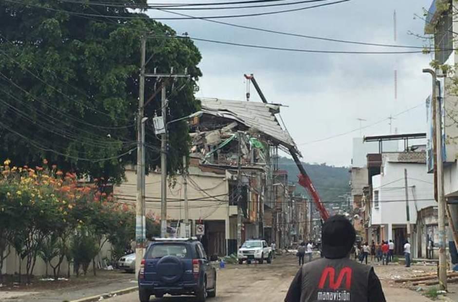 Portoviejo, tras el sismo 6.8 de las 11h46 del 18 de mayo de 2016.