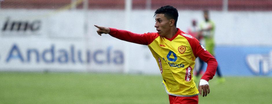 ECUADOR, Quito (2016/05/04). En el estadio Ripalda Aucas recibe al Delfín de MAnta . FOTOS API / JAVIER CAZAR  en la foto  el Jugador Joao Rojas (AUC) festeja su gol
