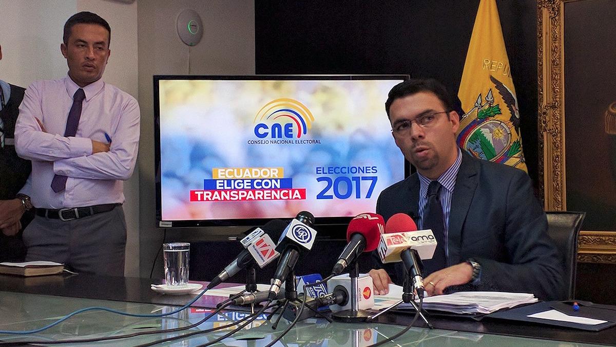 Juan Pablo Pozo, presidente del Consejo Nacional Electoral. Foto de Victor Pozo para La República.
