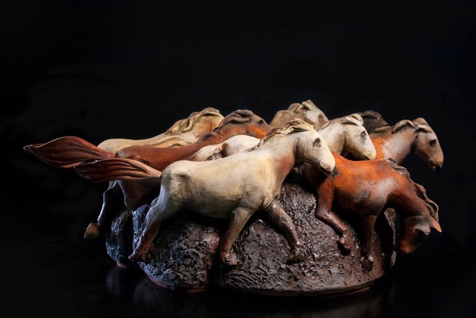 Estampida de caballos, foto Galería Mirador
