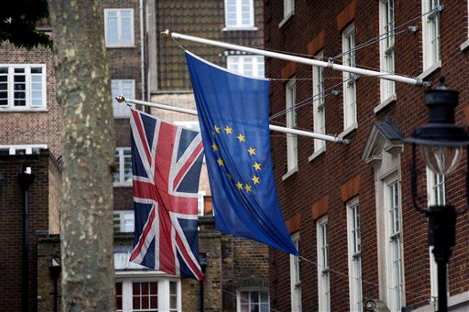 banderas ue y britanica