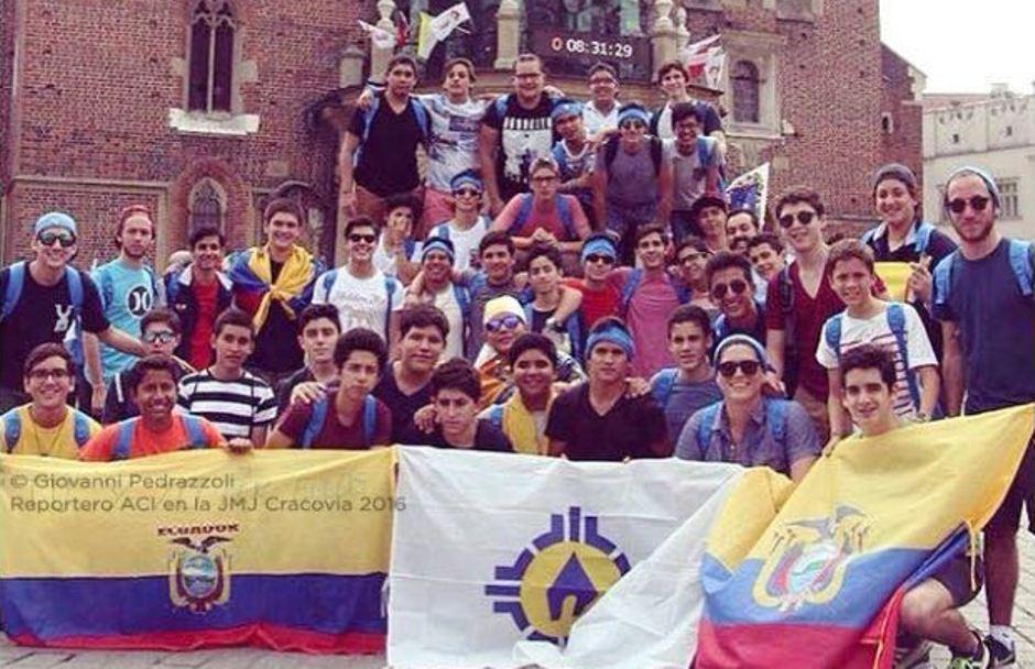 Delegación de jóvenes ecuatorianos a la Jornada Mundial de la Juventud, en Cravocia. foto de ACI Press.