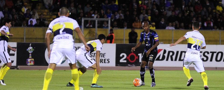 ECUADOR, Quito (2016/07/7). En el estadio Atahualpa Independiente del Valle recibe al Boca Juniors a FOTO API / JAVIER CAZAR