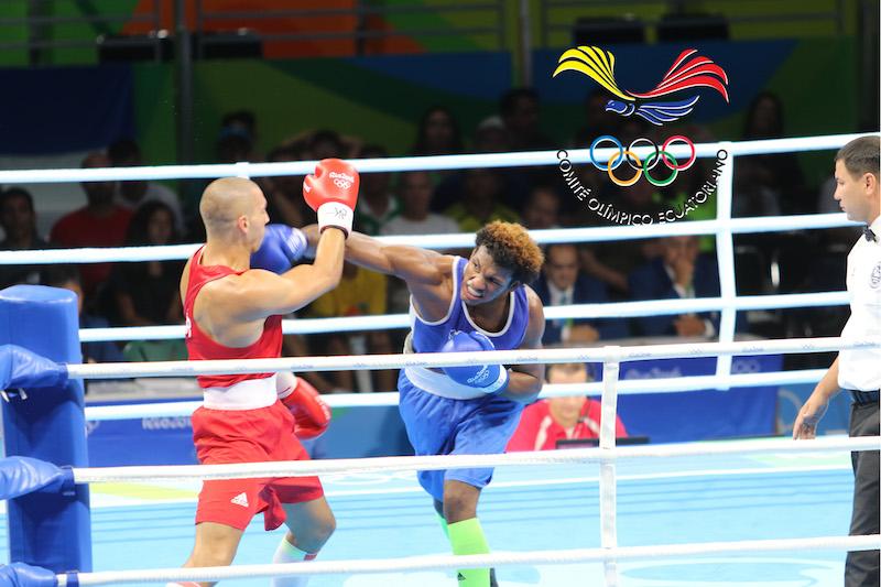 Carlos Mina, boxeador. Foto del 4 de agosto del 2016, publicada en Ecuador Olímpico.