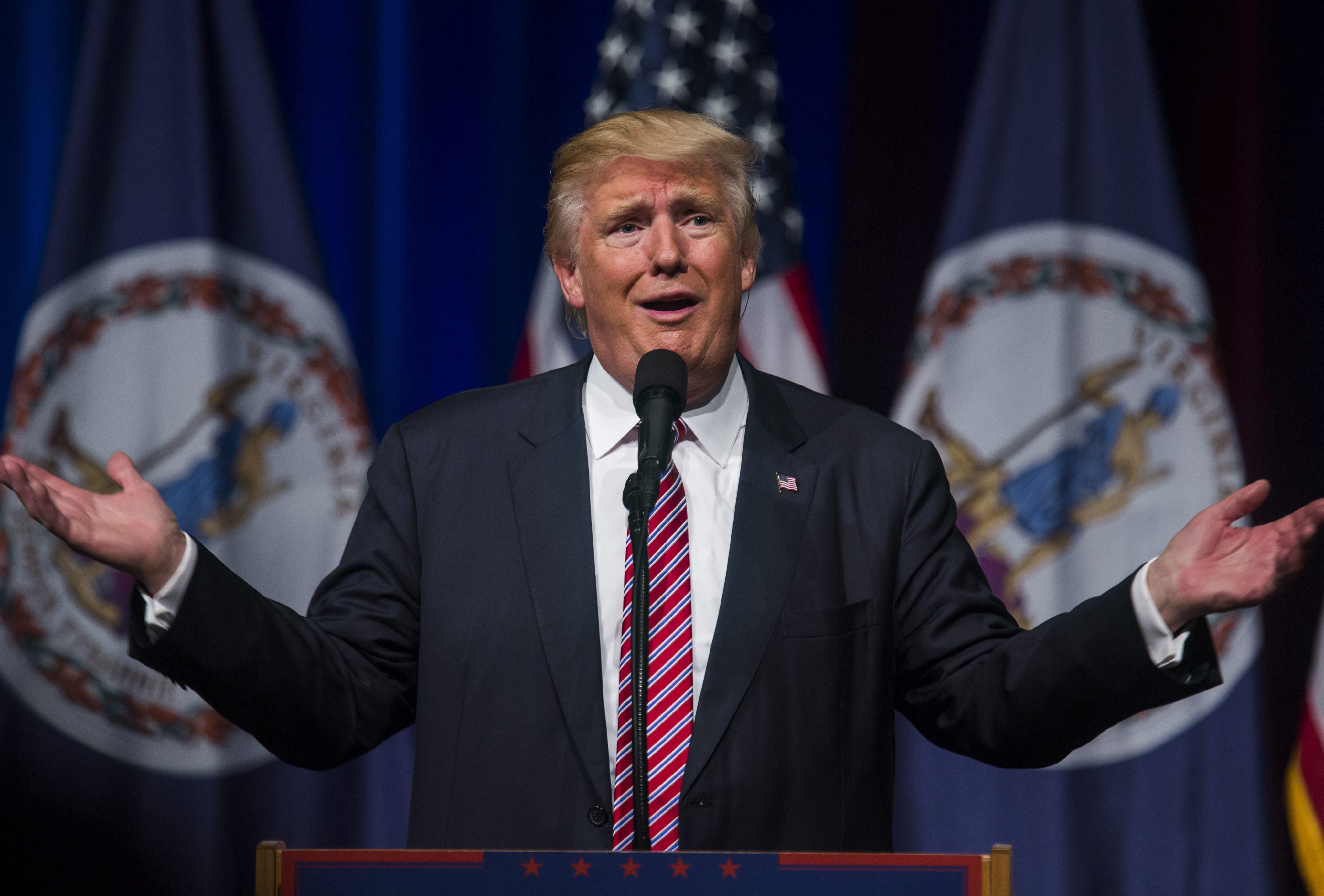 El candidato republicano presidencial estadounidense Donald Trump