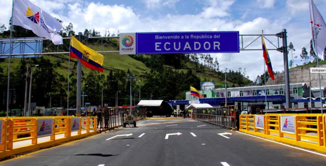 Puente de Rumichaca, frontera de Ecuador y Colombia.