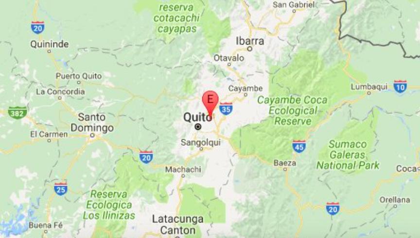 Temblor de 4.7 en Quito.