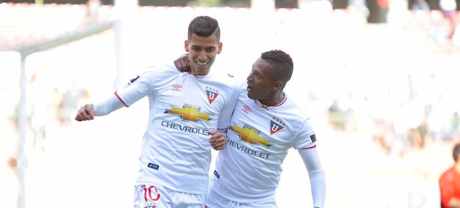 2016-08-20-quito-ecuador. La Liga Deportiva Universitaria recibe a Club Sport Emelec en casa Blanca por el Campeonato Nacional. APIFOTO/JUAN RUIZ