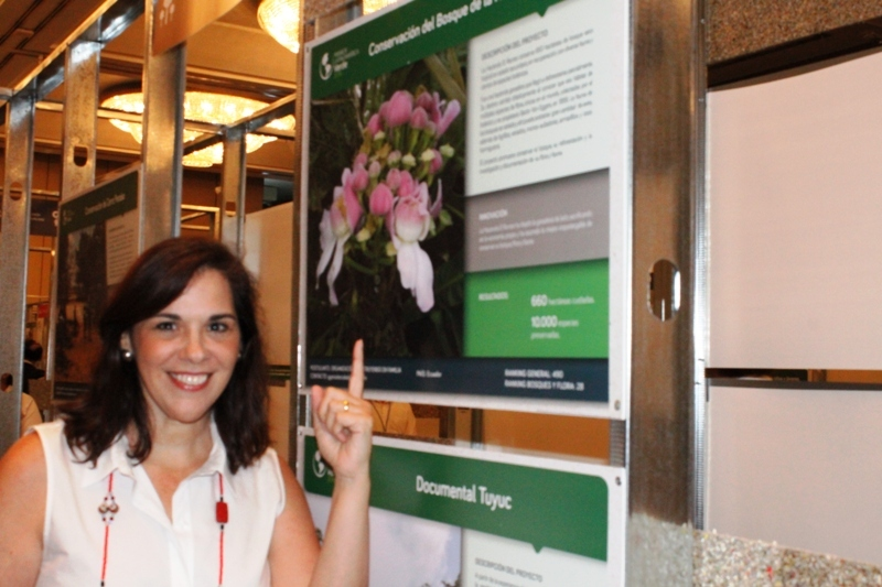 Laura María de González con su proyecto de conservación del bosque de la Hacienda El Recreo. Foto La República