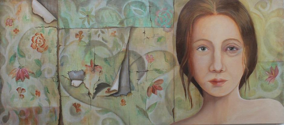 Obra de Marcela Dunn, foto Galería Mirador UCSG