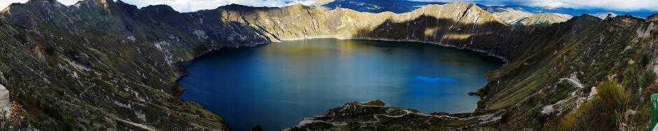 El lago de Quilotoa, subido a Flickr por Ricardo Munive, en 2012.