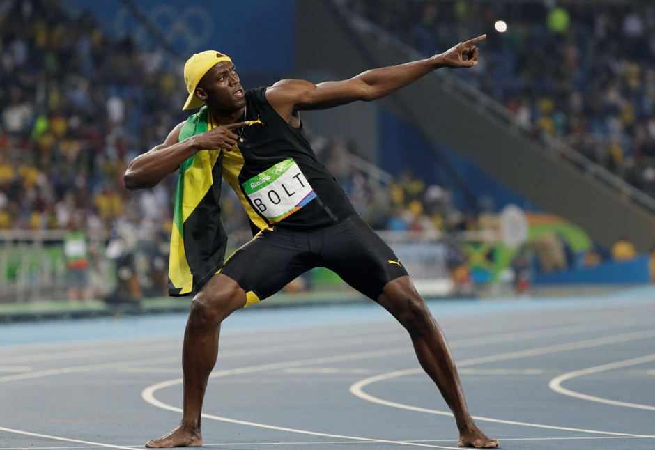 El jamaiquino Usain Bolt festeja tras ganar los 100 metros en los Juegos Olímpicos de Río de Janeiro el domingo, 14 de agosto de 2016. (AP Photo/David J. Phillip)