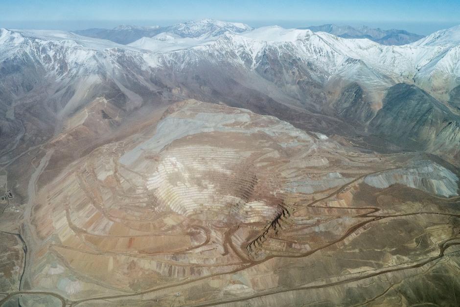 Fotografía aérea de la mina de Veladero, situada en la provincia de San Juan, Argentina. Martin Katz Greenpeace Argentina