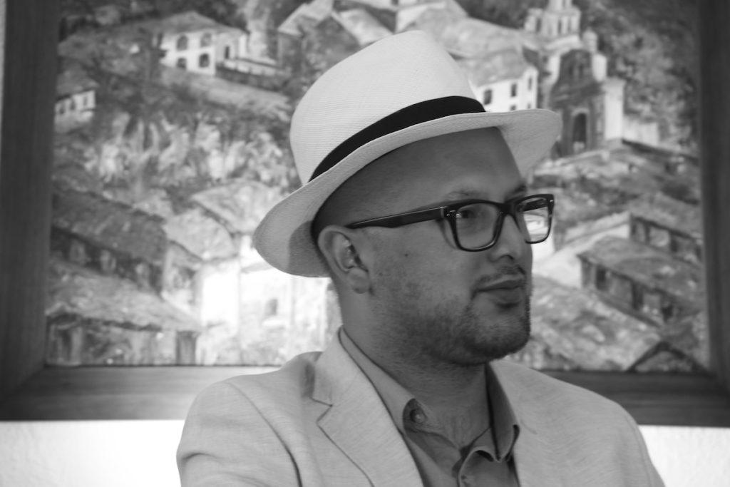 Miguel Molina Díaz, periodista ecuatoriano. Foto de Juan Carlos Navarrete.