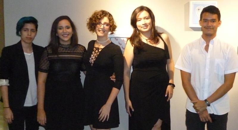 Danitza Ycaza, Irina Patiño, Ana Rivera, María Solange del Pozo, y Jorge Egas.