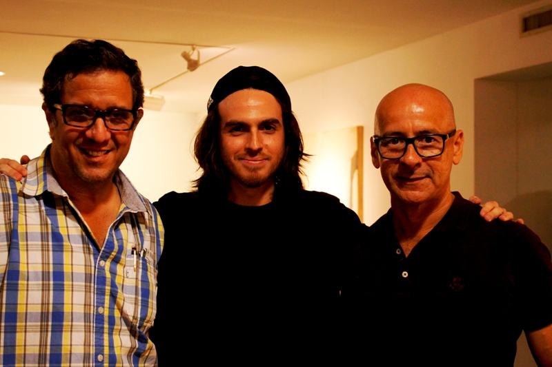 Xavier Patiño, Xavier Coronel y Marcos Restrepo.