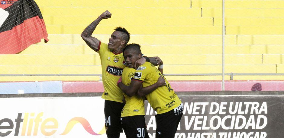 Barcelona golea 3-0 al Deportivo Cuenca, el 15 de octubre de 2016. API/Marcos Pin