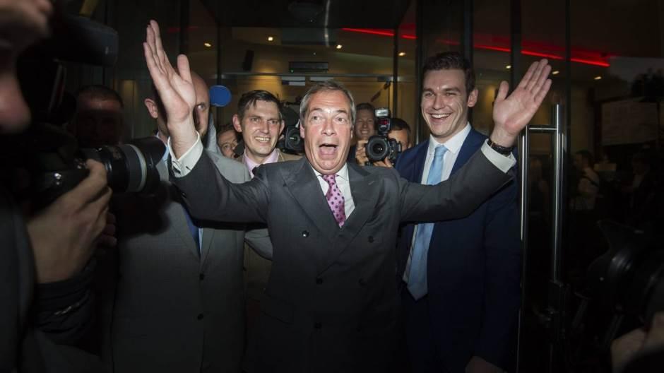 Nigel Farage, líder del Partido de la Independencia del Reino Unido.