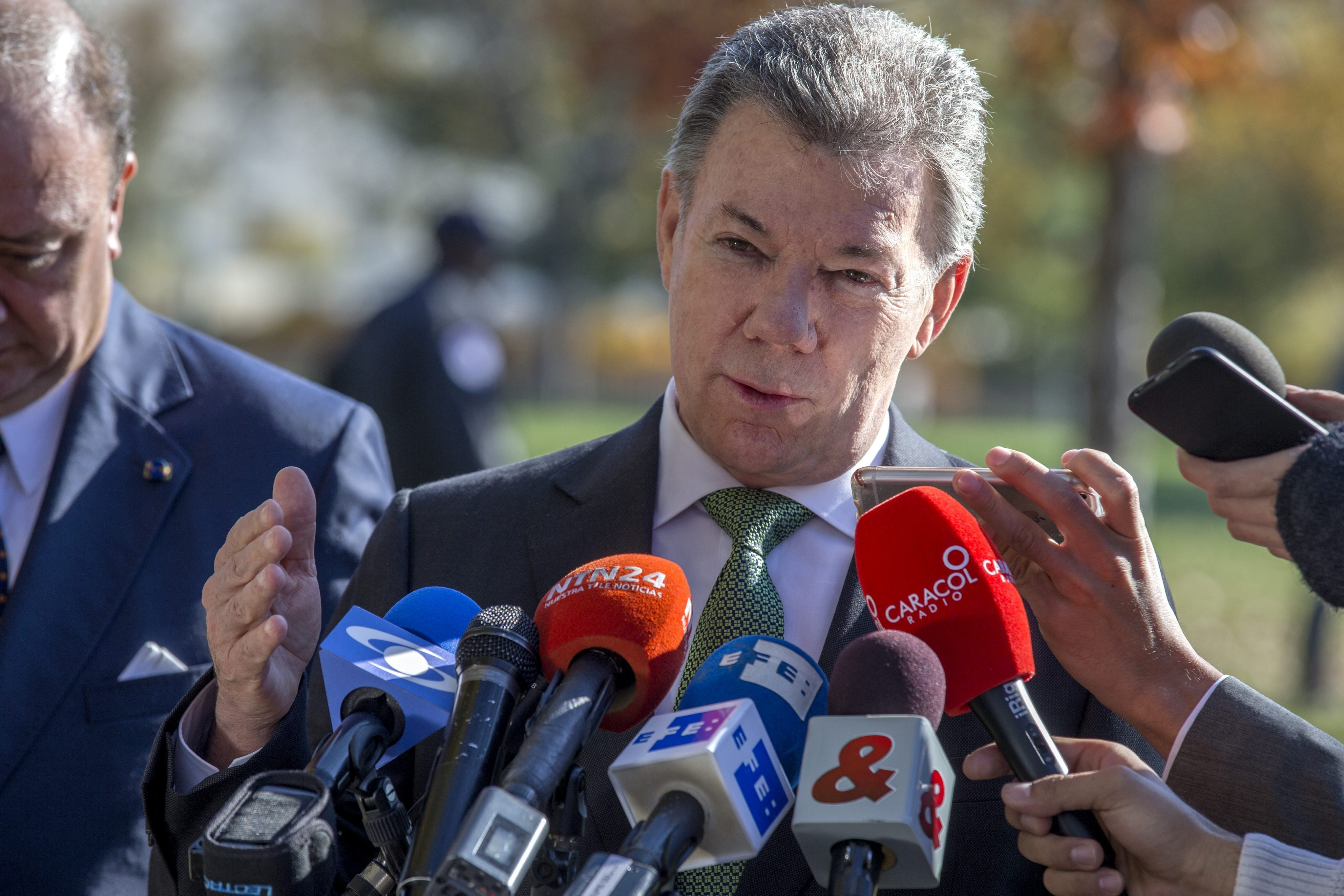 Juan Manuel Santos, presidente de Colombia. EFE/Shawn Thew