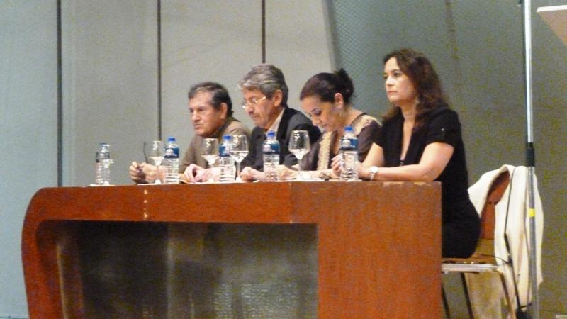 Mesa directiva Esteban Delgado, RAúl Vallejo, Matilde Ampuero y Melina Wazhima.