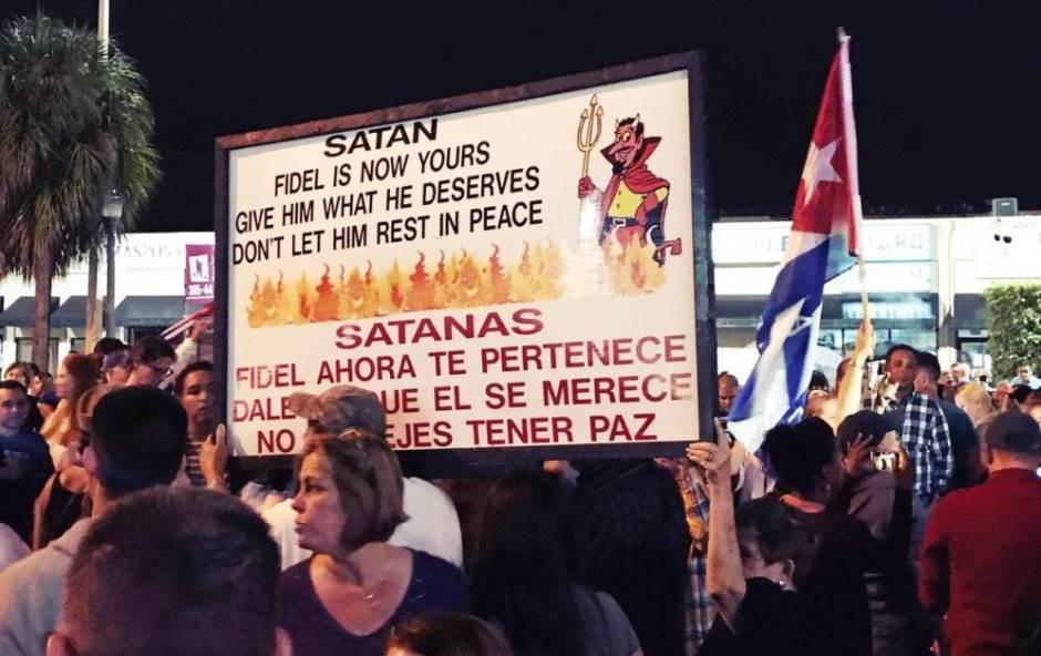 Foto: festejos en Miami por muerte de Castro, El Confidencial
