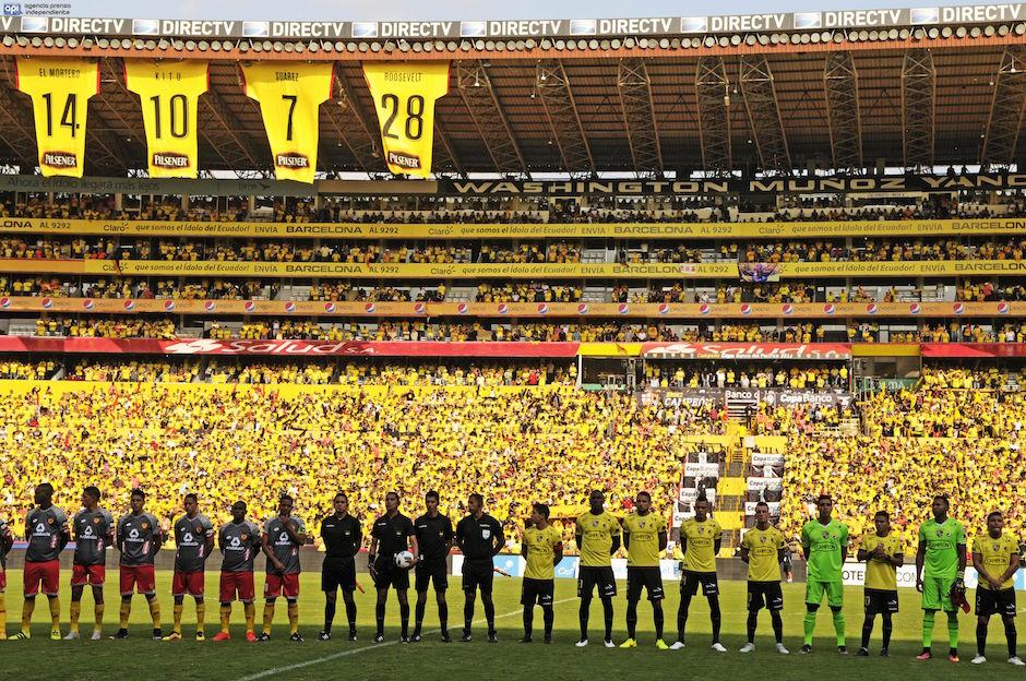 Guayaquil 10/12/2016.Barcelona vs Aucas. Fotos: Marcos Pin / API
