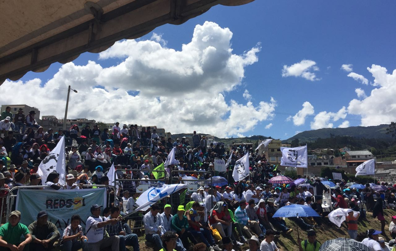 Concentración en Otavalo en favor de Lenín Moreno, el 9 de diciembre de 2016. Foto de su campaña.