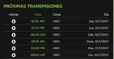 "HBO horarios documental ""Bright lights"""