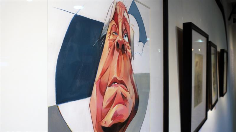 Jorge Luis Borges retratado