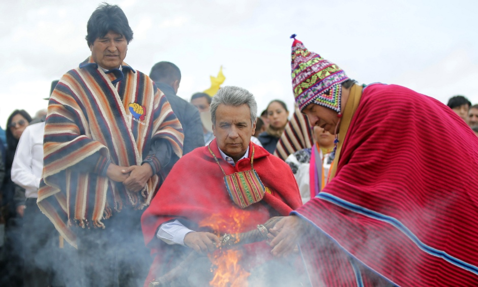 ECUADOR-MORENO POSESION