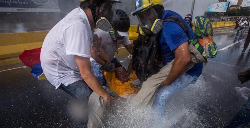 AGUA Y GASES LACRIMOGENOS VENEZUELA