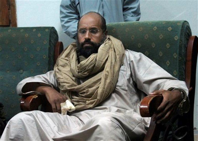 Hijo de Gadafi liberado