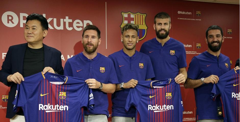 Rakuten presenta su acuerdo de patrocinio con el F.C. Barcelona