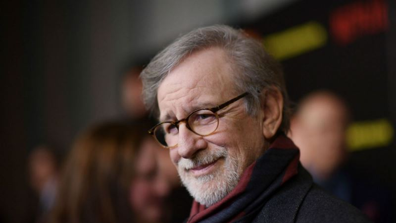 Steven Spielberg rostro con lentes
