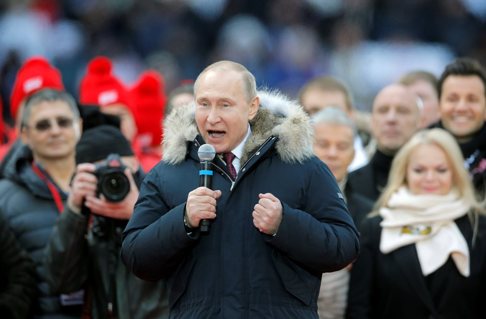 Putin's pre-election campaign rally