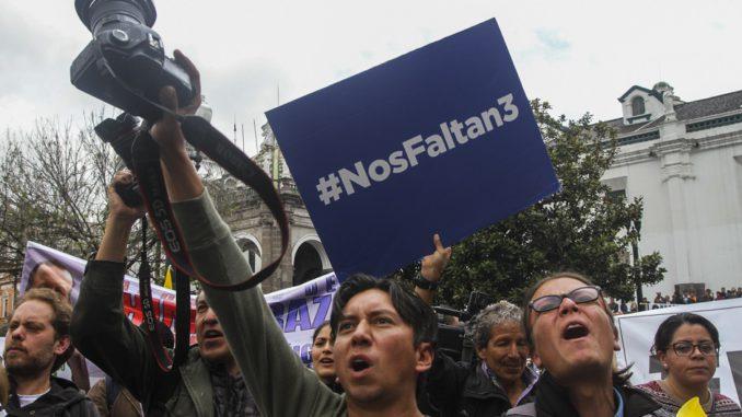 Campaña de solidaridad sin precedentes en Ecuador tras secuestro de  periodistas 07129f321efd8