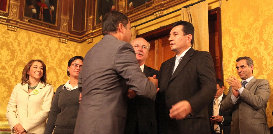 Rafael Correa y Pablo Romero