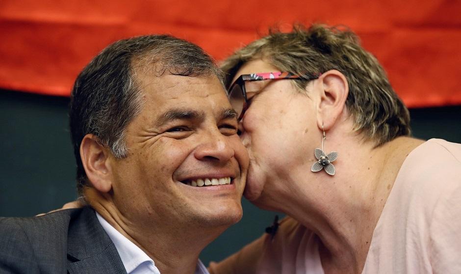 Acto en la Universidad Complutense de Rafael Correa
