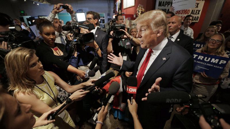 Donald y la prensa