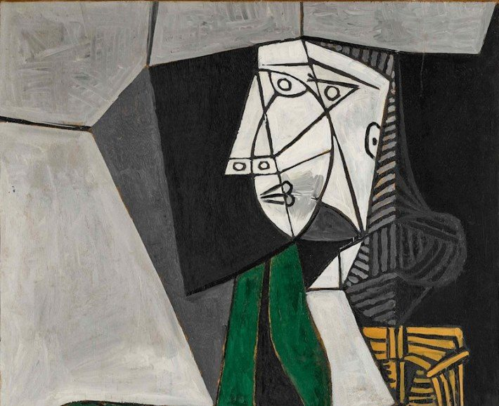 mujer verde picasso